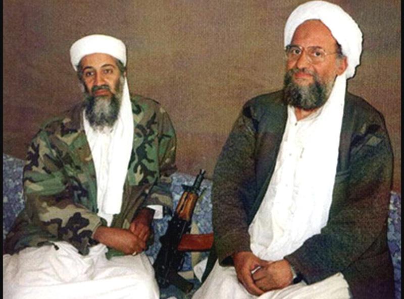 Osama bin laden e il suo vice Ayman al Zawahiri