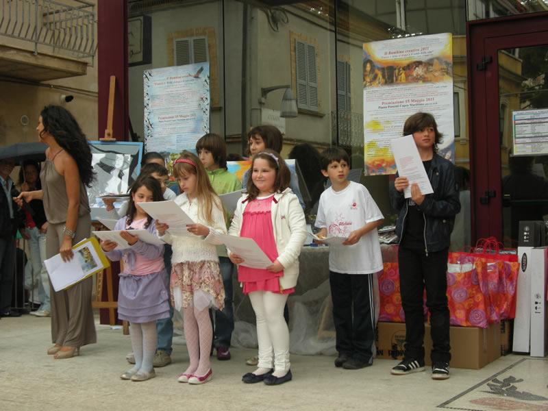 Bambino Creativo 2011, alcuni bambini cuprensi premiati
