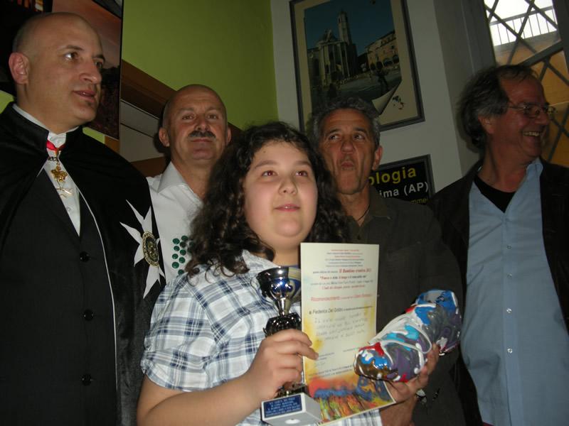 Federica Del Gobbo, Bambino Creativo 2011, vincitrice del premio