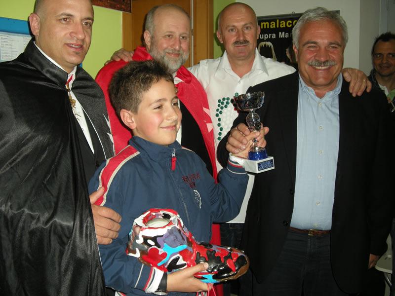 Gianluca Moriconi, Bambino Creativo 2011, vincitore del premio