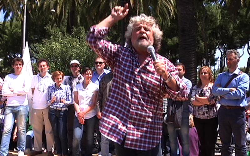 Beppe Grillo a San Benedetto