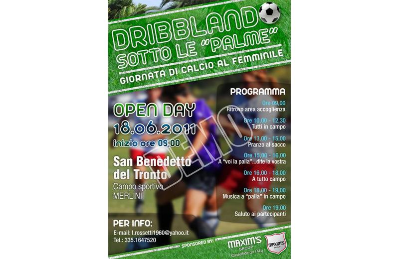Calcio femminile, la locandina di Dribblando sotto le Palme