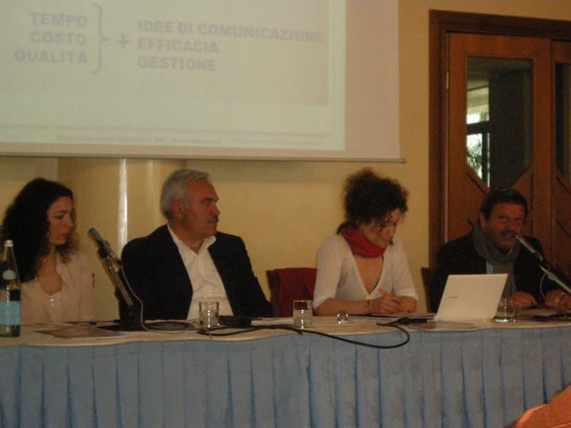 Da sinistra Susanna Lucidi, Domenico D'Annibali, Stefania Marcozzi ed il professor Mario Mazzoleni