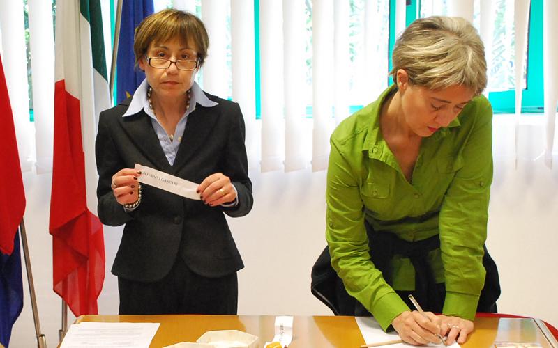 Gabrielli-Gaspari: estrazione ordine candidati 23 maggio 2011