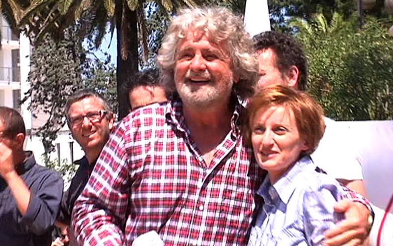 Beppe Grillo con Maria Rosa Ferritto