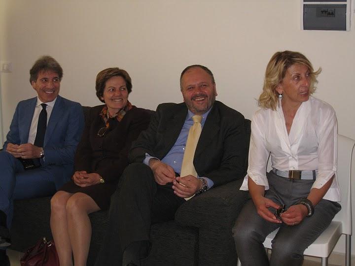 Da sinistra: Franco Guidotti, Giovanna Picciotti, Giovanni Gaspari, Loredana Emili