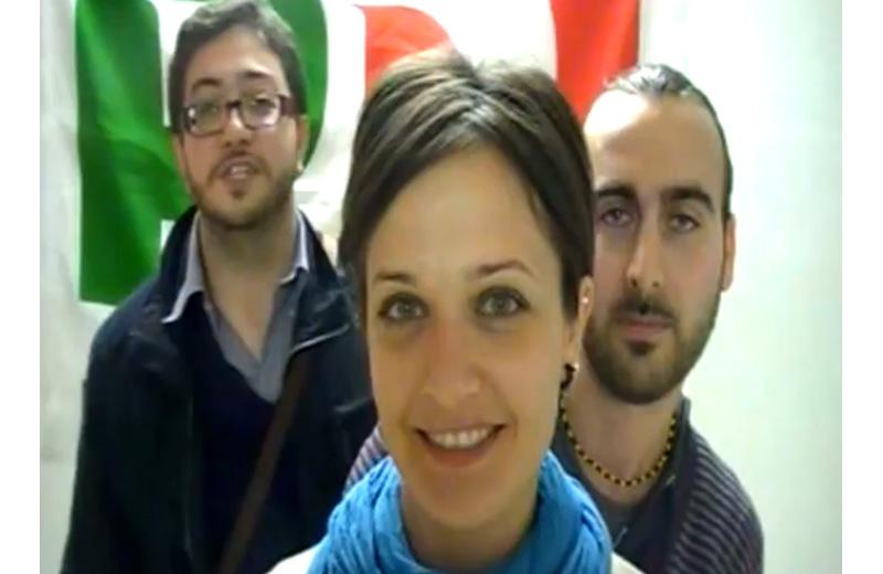 Giuseppe Capriotti, Simona Antonini e Davide cecchini nel video per il Si al referendum