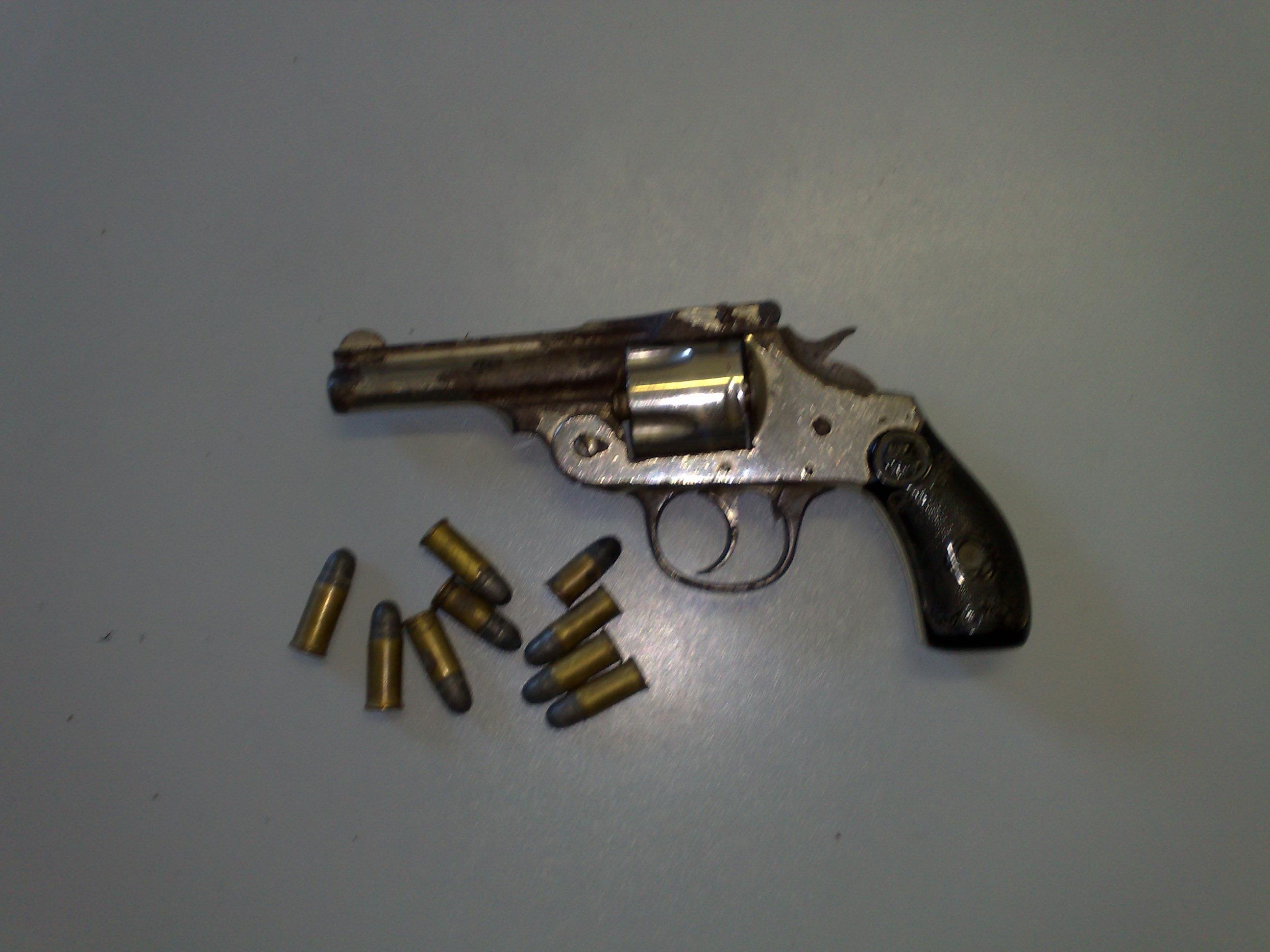 La pistola e le munizioni trovate in casa