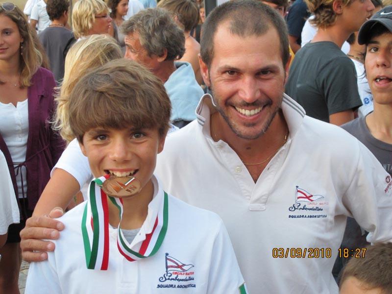 Matteo Pincherle con il suo allenatore Nicolas Antonelli