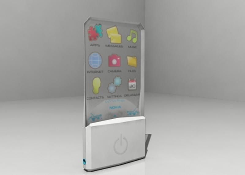 Un cellulare... trasparente