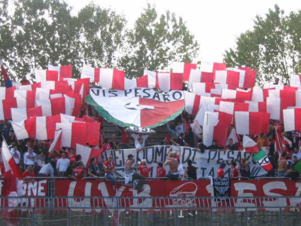 Curva Vis Pesaro calcio (archivio)