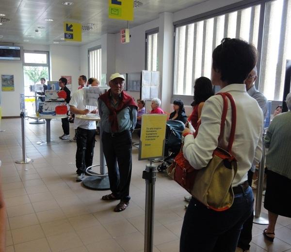 L'ufficio postale di Porto D'Ascoli in Piazza Setti Carraro