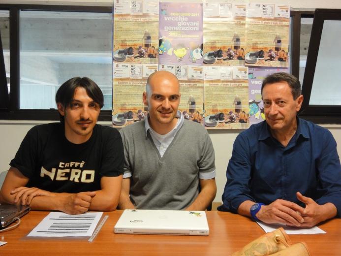 Da sinistra Luca Marcelli, Alessandro Bruni e Pasqualino Piunti