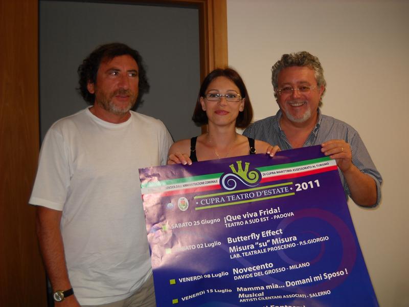 Da sinistra Arnaldo Adami, Alessandra Vitali e Marco Malaigia