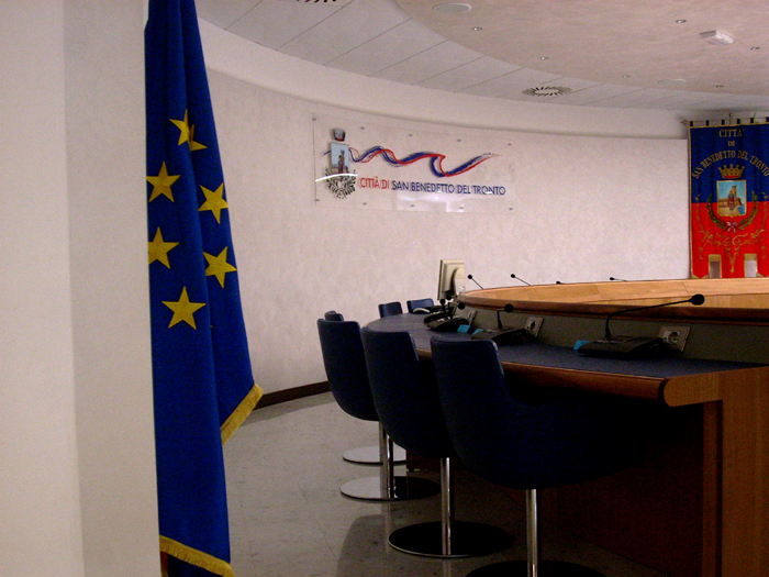 Sala consiliare del comune di San Benedetto del Tronto