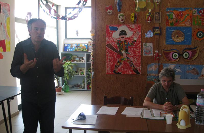 Marcello Monti e Danila Corsi nel Centro Diurno Rosa Blu di Martinsicuro
