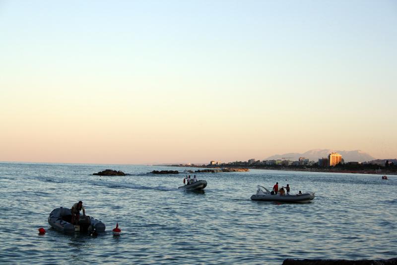 Mare antistante la foce dell'Albula