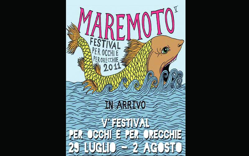 La locandina del Maremoto Festival edizione 2011