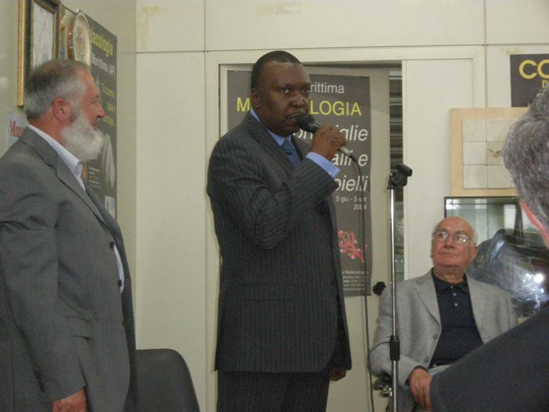 L'ambasciatore del Gabon alla Malacologia