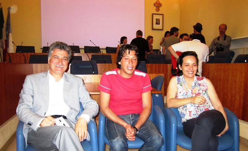 Da sinistra: Luigi Merli, Enrico Piergallini, Ilenia Illuminati