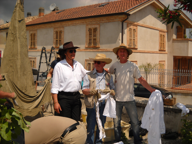 Massignano s'infiamma 2011, da destra Alberto Cavallini, Terry Davies, Marino Mecozzi