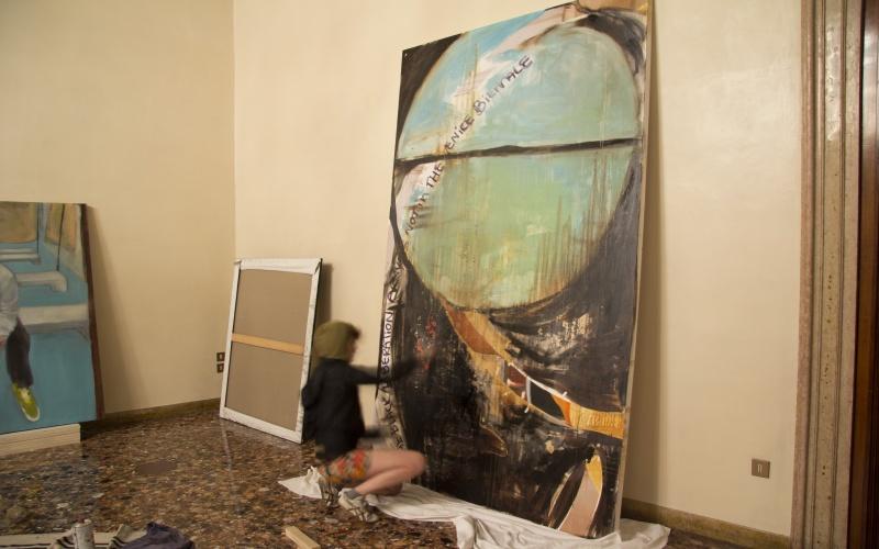 Paola Angelini nel padiglione norvegese alla Biennale di Venezia
