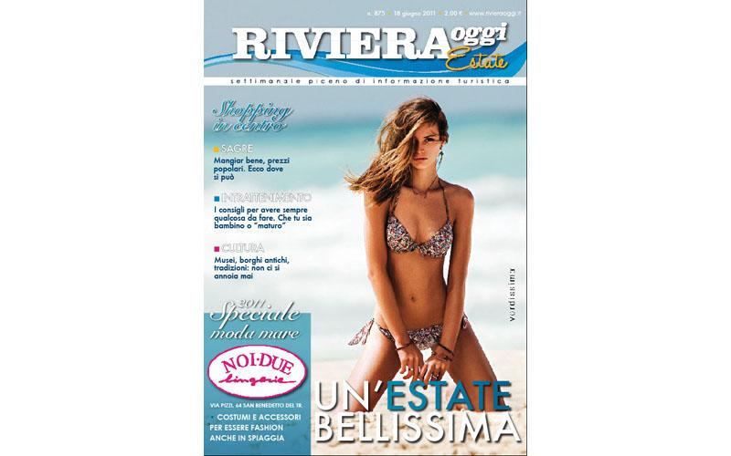 La copertina di Riviera Oggi Estate in edicola