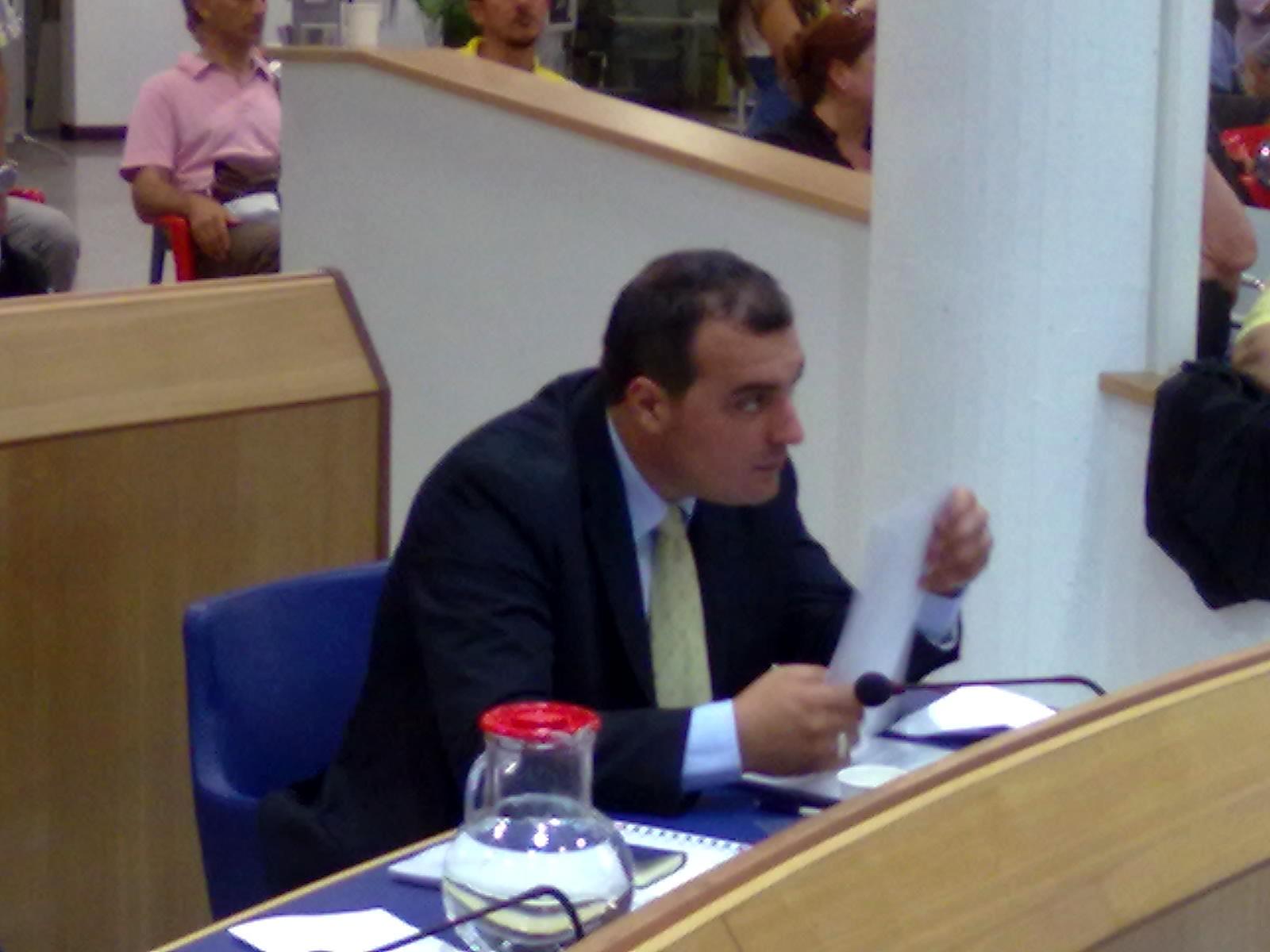 Giacomo Massimiani in consiglio comunale