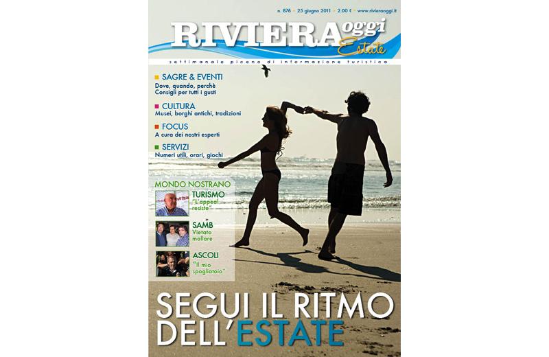 La copertina del nuovo numero di Riviera Oggi Estate