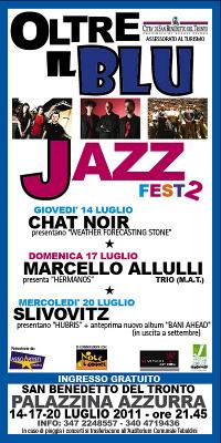 La locandina dell'edizione 2011 dell'Oltre il blu Jazz Festival