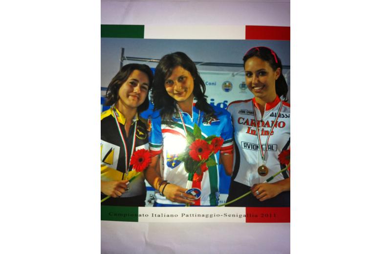 Maria D'Annibale della Skating in line di San Benedetto: ha conquistato il titolo di campionessa italiana nella specialità 10.000 punti/eliminazione juniores