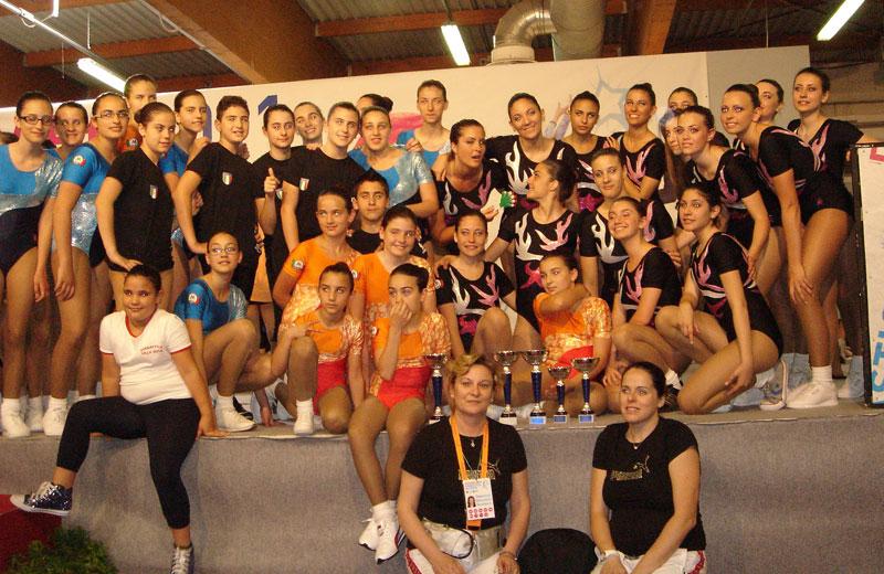 Le allieve della Ginnastica Villa Rosa ai Campionati di Pesaro
