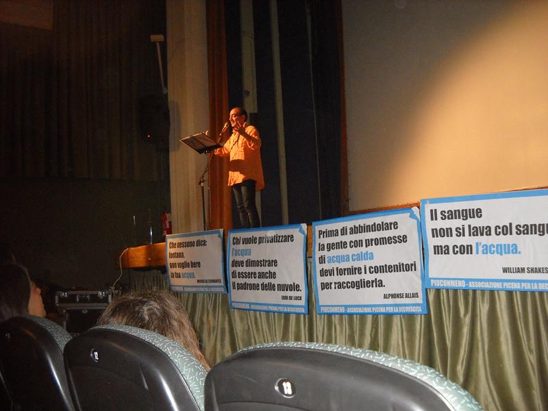 Serata di informazione sulla privatizzazione dell'acqua