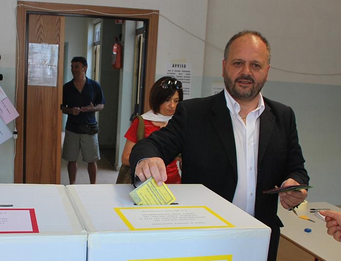 Il sindaco Gaspari al voto per il referendum
