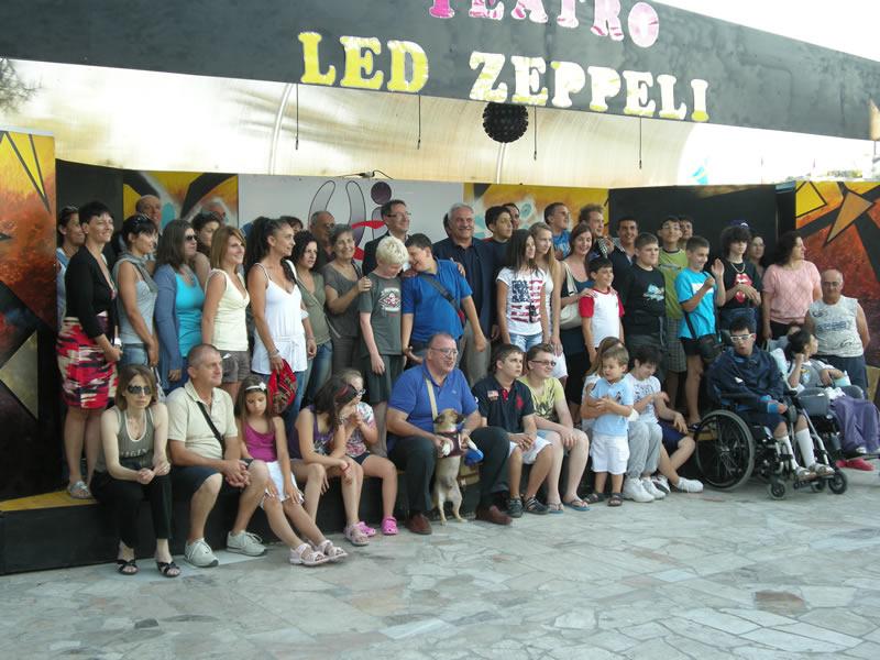 I partecipanti al campo estivo dell'Unione Italiana Ciechi