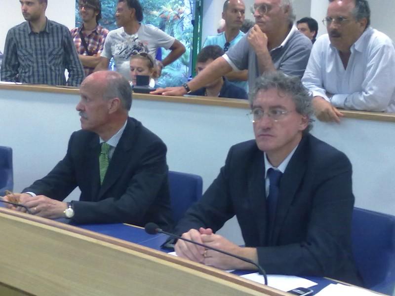 Vesperini (Idv) e Vinicio Liberati (Pd)