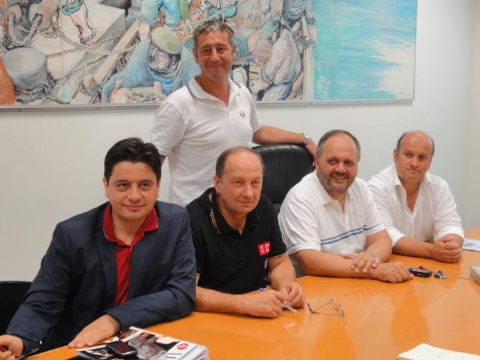 Da sinistra, Camillo Di Monte, Gianni Rossetti, Luigi Cava, Giovanni Gaspari e Gino Sabatini