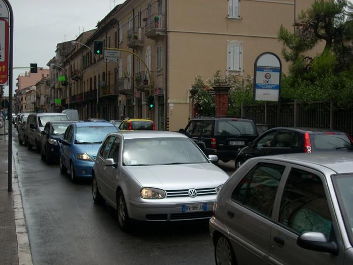 San Benedetto allagata, 5 luglio 2011, traffico sulla Statale 16