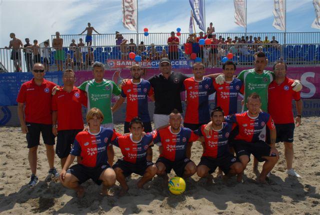 Una formazione della Samb Beach Soccer 2011