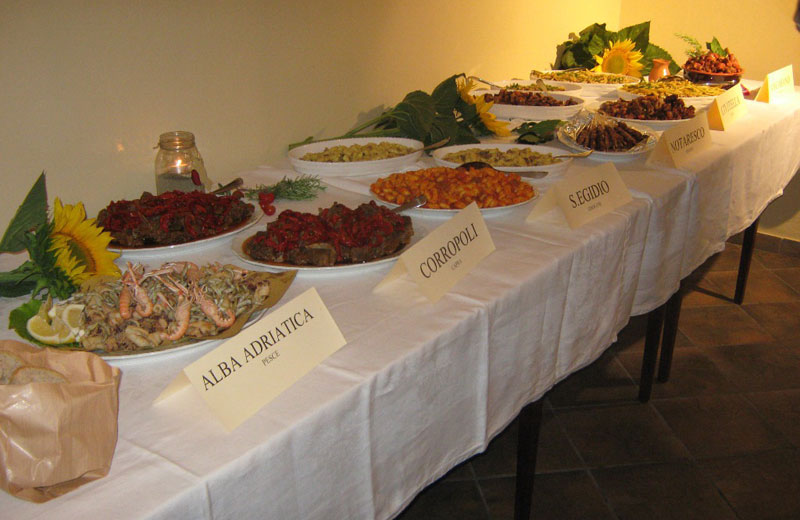 Le specialità della Sagra delle Sagre presentate in anteprima all'Osteria del Pettirosso di Colonnella