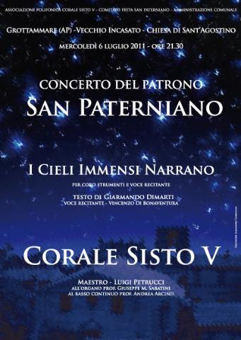 MANIFESTO SAN PATERNIANO 2011