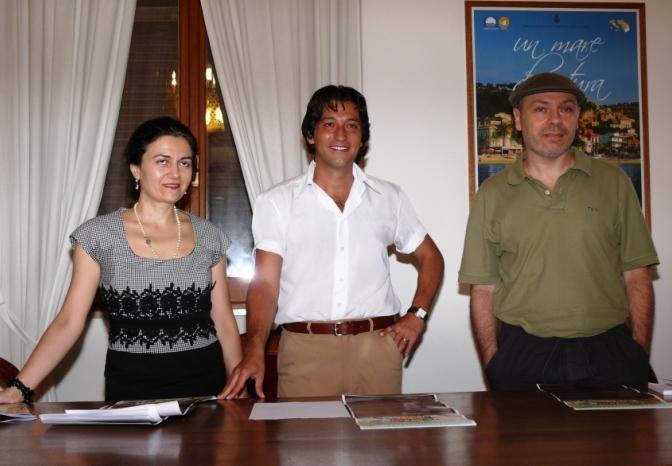 Da sinistra: Rita Virgili, Enrico Piergallini, Lucilio Santoni