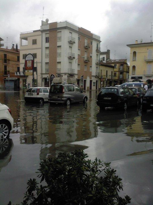 San Benedetto allagata