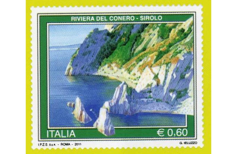 La Spiaggia delle Due Sorelle sui francobolli di Poste Italiane