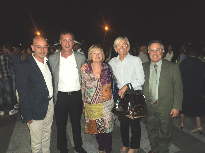 Domenico Pellei, Marco Calvaresi, Giulietta Capriotti, Margherita Sorge e l'on. Amedeo Ciccanti (Foto del 31 luglio 2011)