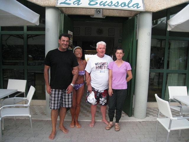 Da sinistra: Emidio Del Zompo, Sandra e Federico Zucchelli, Irma Del Zompo
