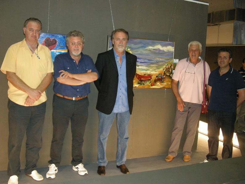 Da sinistra Carlo Gentile, Marco Malaigia, Domenico Catasta, Giambattista Santori ed Enzo Alesiani