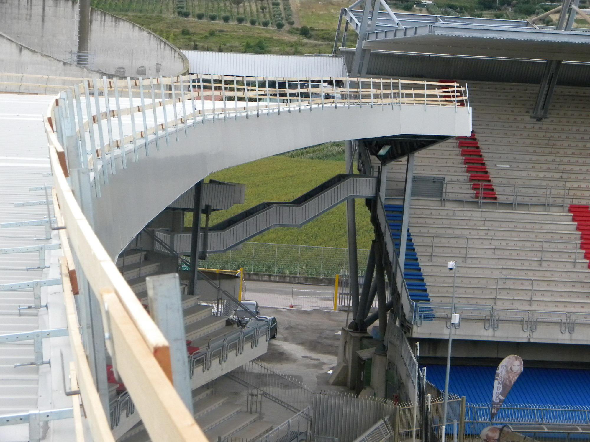 Stadio Riviera delle Palme, lavori in corso, luglio 2011