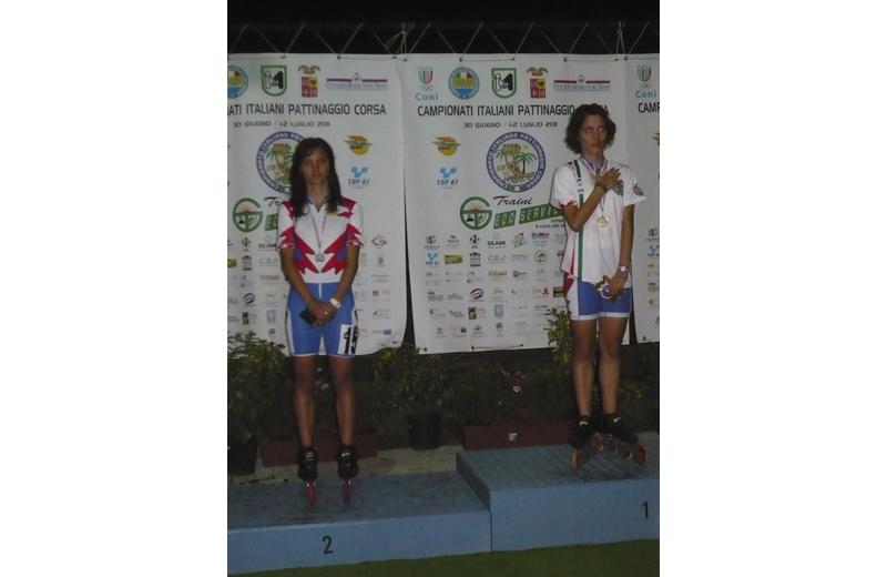 Campionati italiani di Pattinaggio all'Agraria, le gemelle Maria e Sofia D'Annibale sul podio