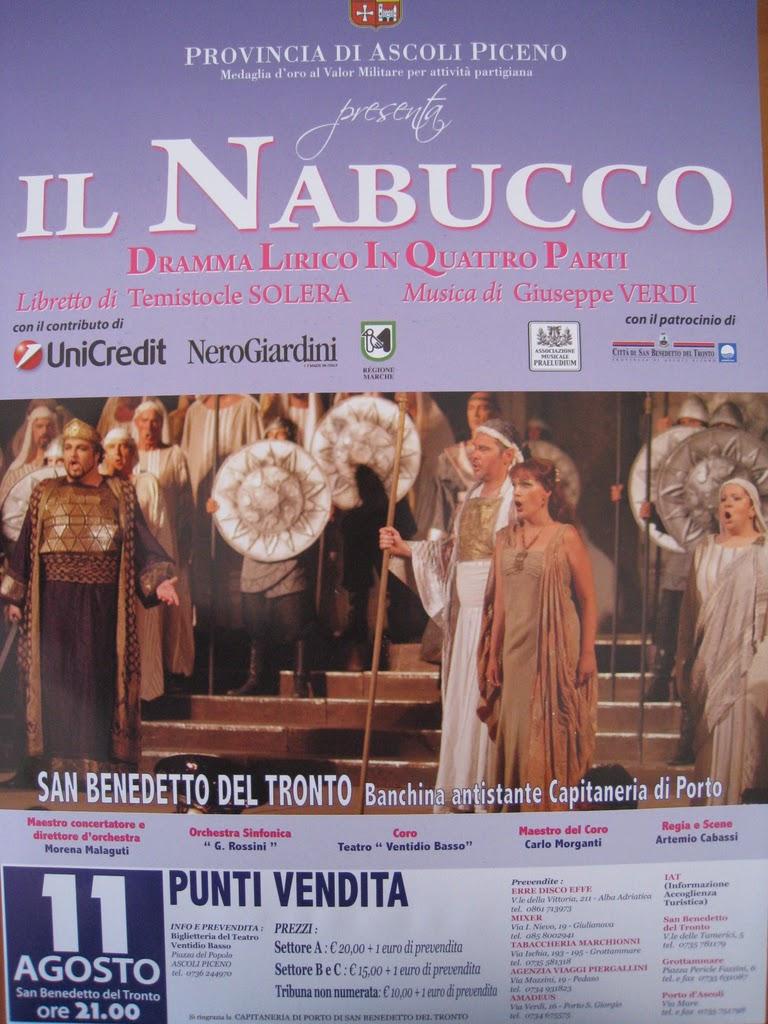 Nabucco a San Benedetto del Tronto, la locandina